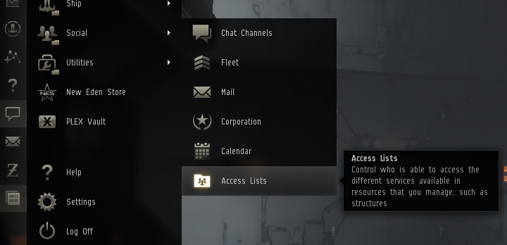Access lists eve online