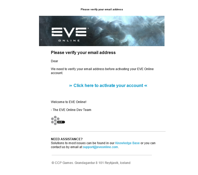 Creating a New EVE Online Account Through www eveonline com